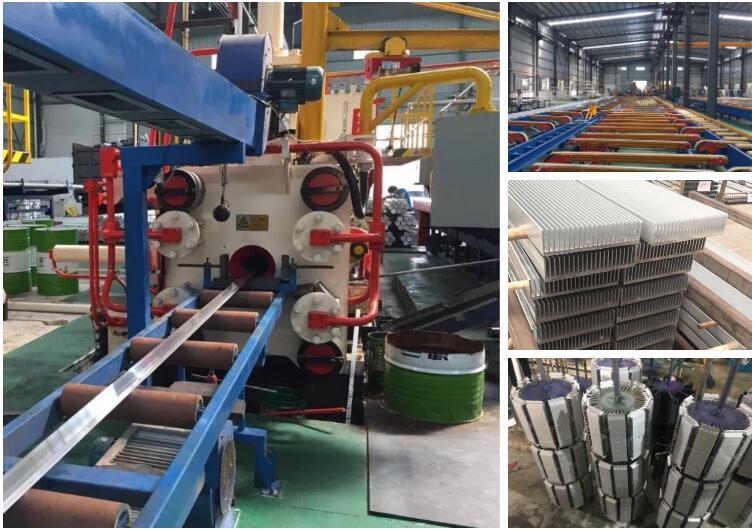 Standard custom extrusion aluminum CNC heat sink profile