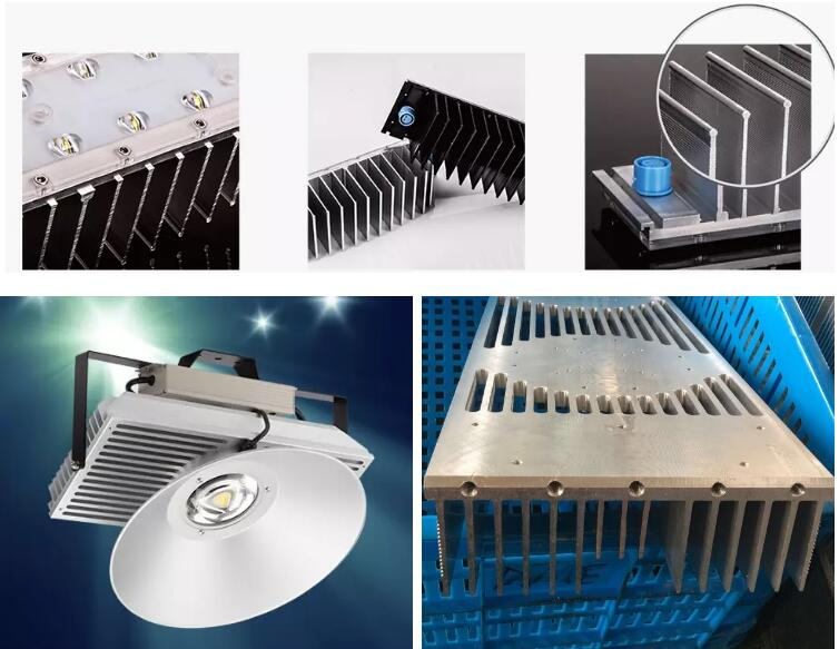 Aluminum extrusion high power led 200w heat sink