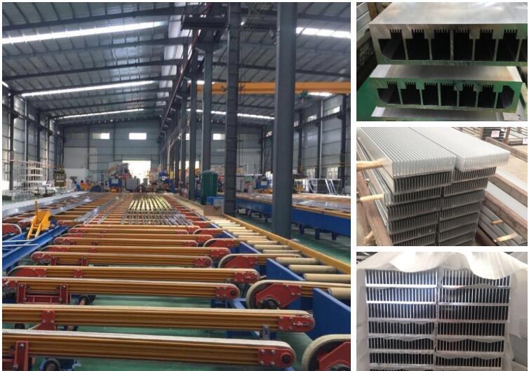 Factory customized extruded aluminium water cooling heatsink
