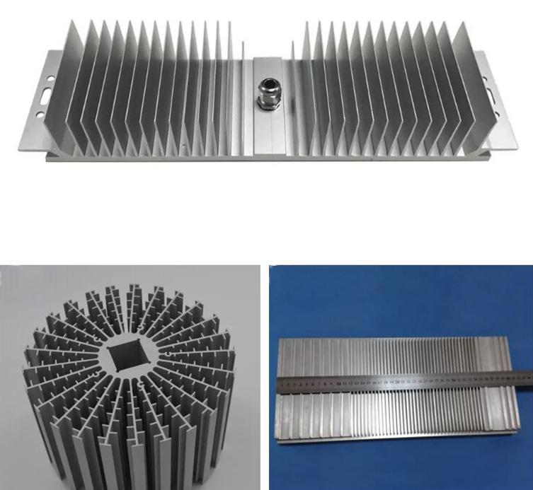 Anodized round aluminum cold forge heatsink for led
