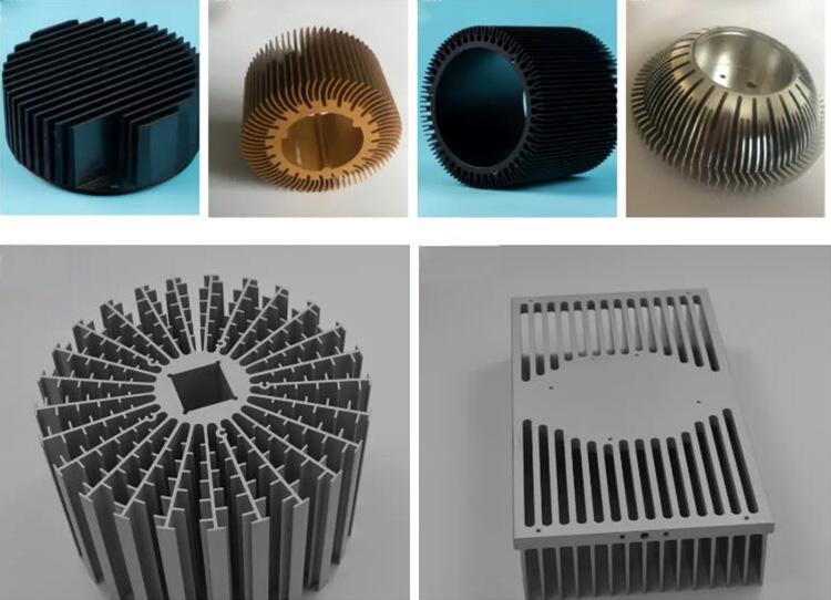 Customized anodized extruded aluminium heat sink led round
