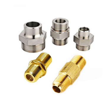 OEM factory sell cnc machined connector brass bushing