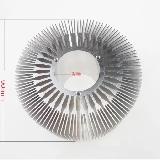 6063 series round led strip aluminium heat sink