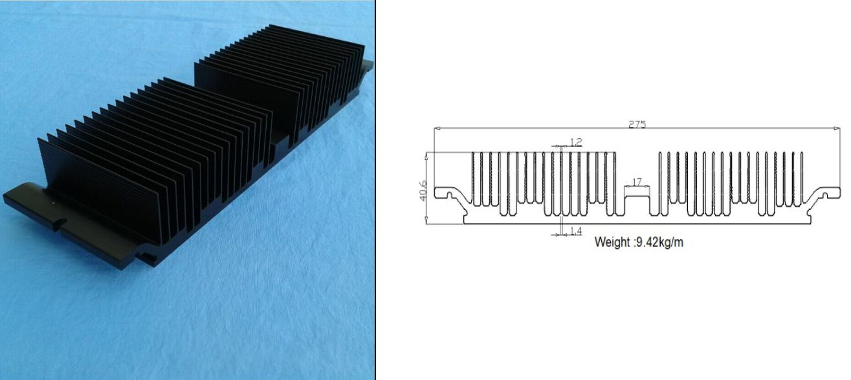 High quality led modular street light heat sink
