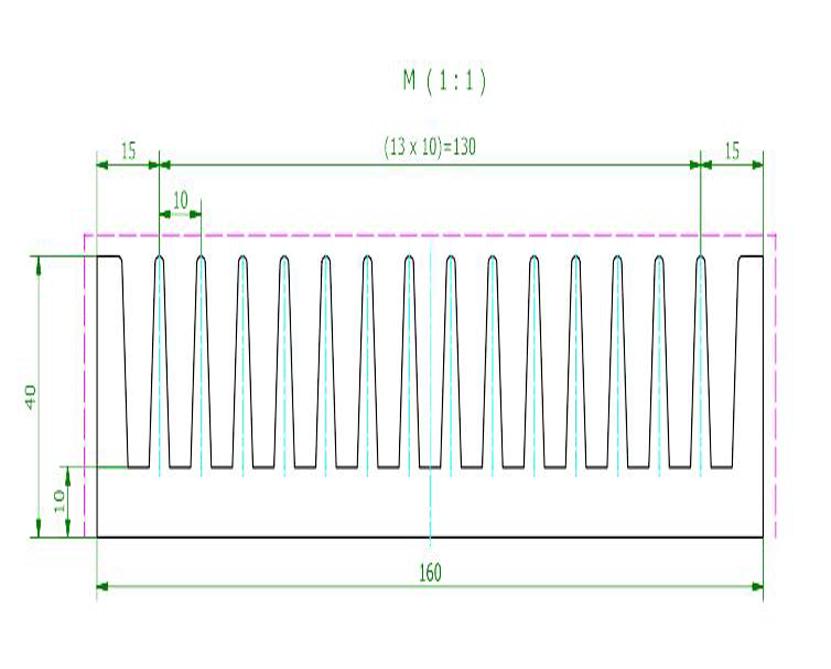 6000 series extruded high heat dissaption aluminum LED heatsink