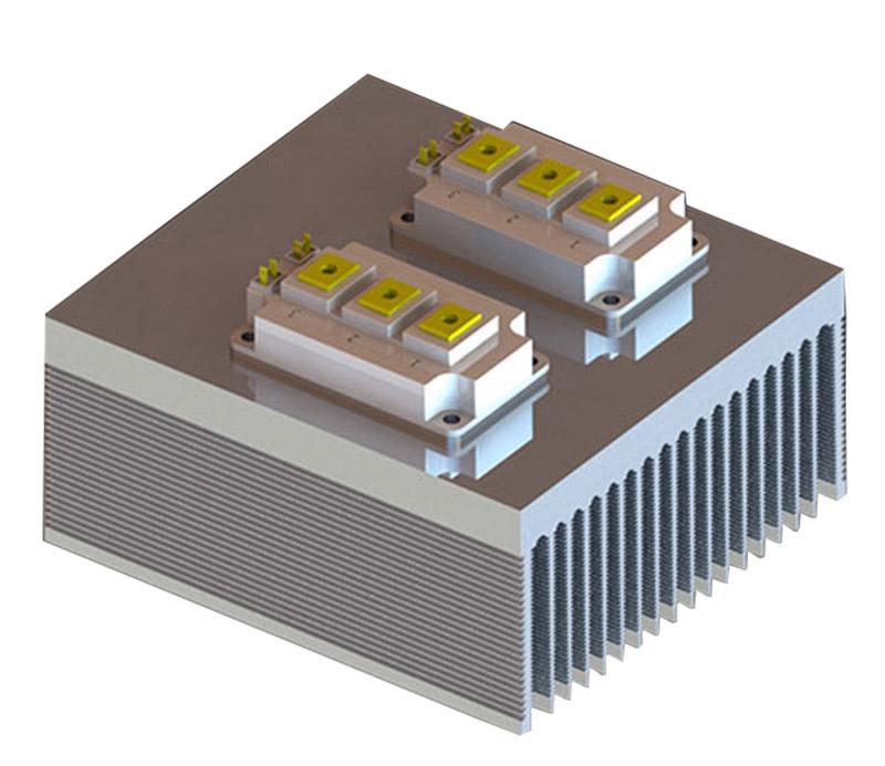 Tower-shape combined extrusion aluminum profile heat sink