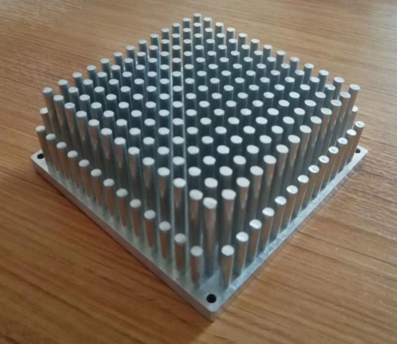 Anodized aluminum cold forge heatsink for led