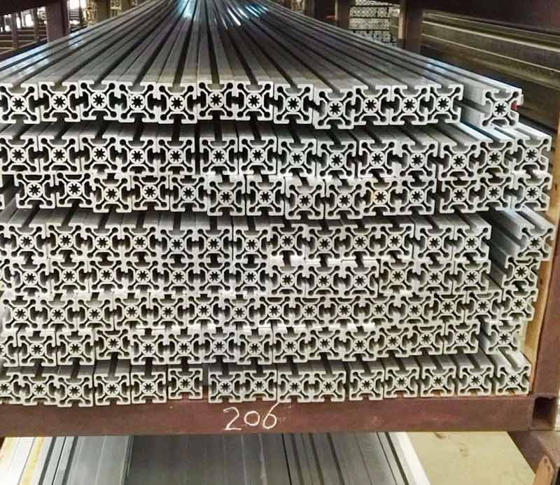Customized 6063 v-slot t-slot aluminum profile for industry production line