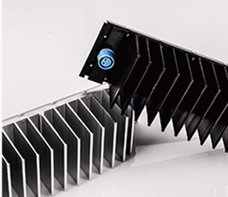 CNC milling large extruded aluminum flexible heat sink