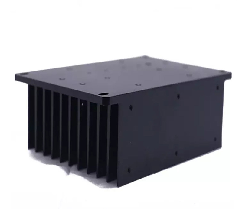 Black aluminum 100w led extrusion heat sink with low price