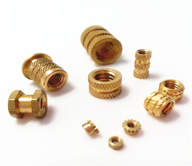 insertion knurled round nuts thru threaded inserts brass insert nut
