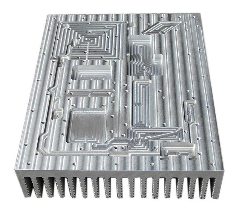 Large 6063 T5 Extruded Aluminum Heat Sink