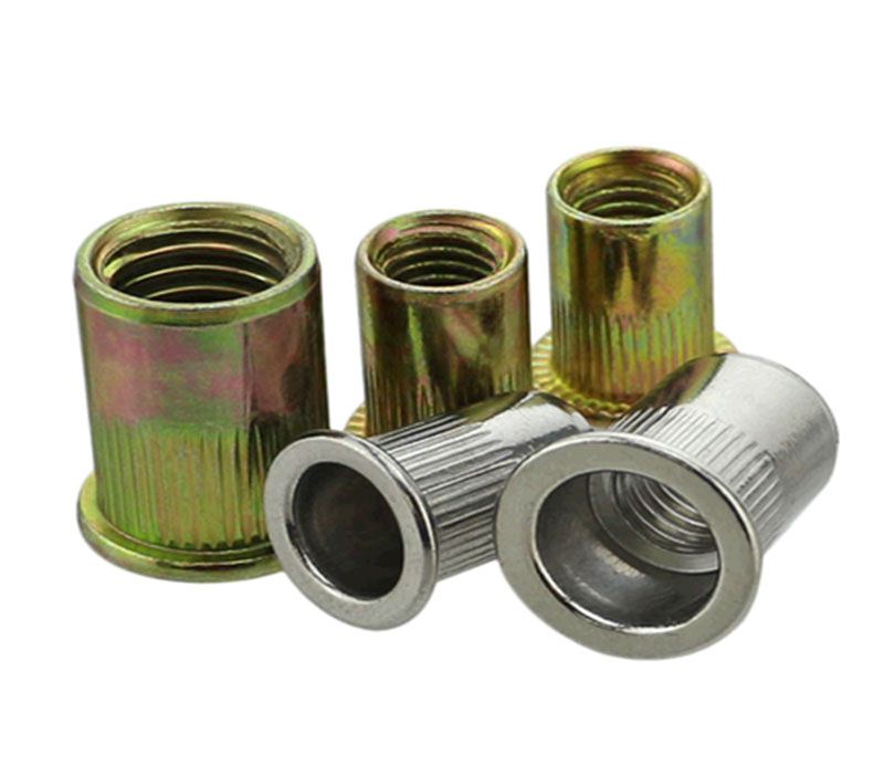 SS304 SS316 Stainless Steel Knurled Through Hole Rivet Nut